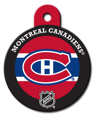 Round NHL Montreal Canadiens Pet Tag