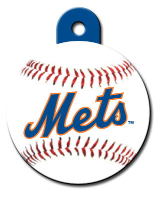 Round MLB New York Mets Pet Tag