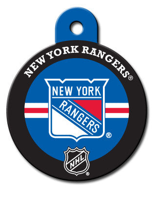 Round NHL New York Rangers Pet Tag