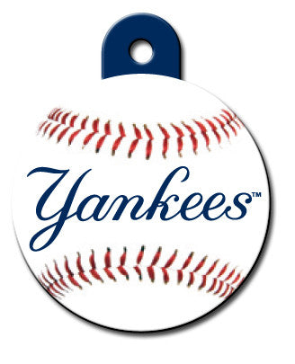 Round MLB New York Yankees Pet Tag