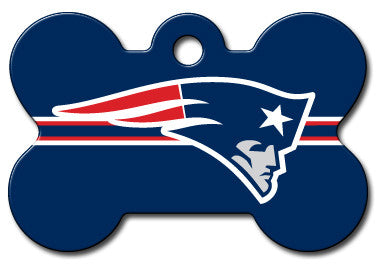 NFL New England Patriots Bone Pet Tag