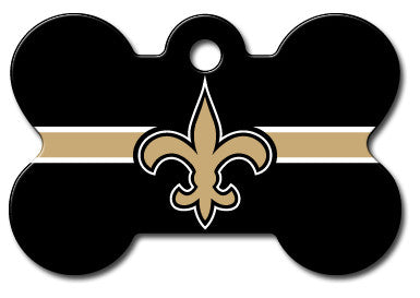 NFL New Orleans Saints Bone Pet Tag
