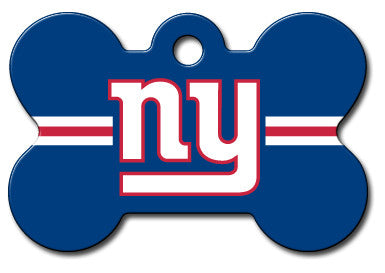 NFL New York Giants Bone Pet Tag