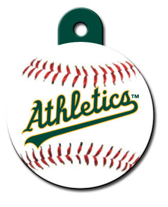 Round MLB Oakland A's Pet Tag