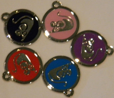 Color Filled Round Mouse Pet Tag 5 Colors