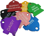 Anodized Hydrant Pet ID Tag