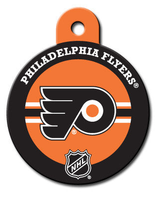 Round NHL Philadelphia Flyers Pet Tag