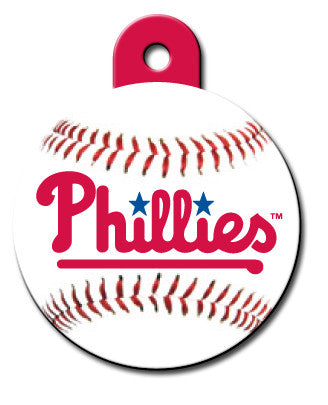 Round MLB Philadelphia Phillies Pet Tag