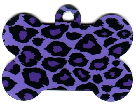 Purple Leopard Print  Pet Tag