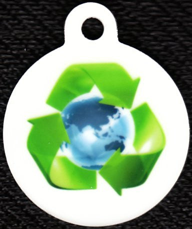 Round Recycle Pet Tag
