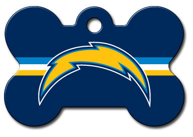 NFL San Diego Chargers Bone Pet Tag