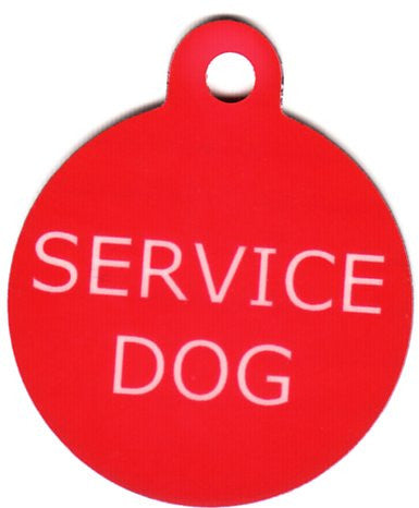 Round Service Dog Pet Tag