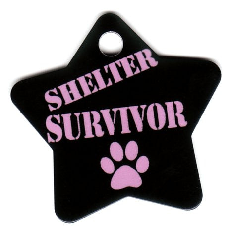 Star Shelter Survivor With Paw Print  3 Colors