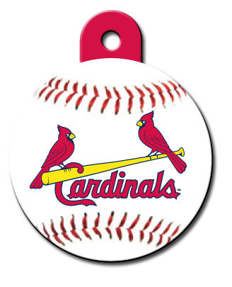 Round MLB St. Louis Cardinals Pet Tag