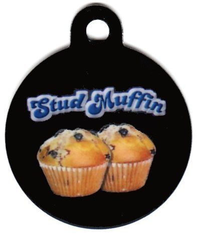 Round Stud Muffin Pet ID Tag