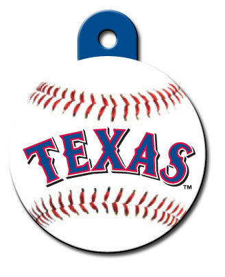 Round MLB Texas Rangers Pet Tag