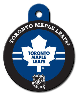 Round NHL Toronto Maple Leafs Pet Tag