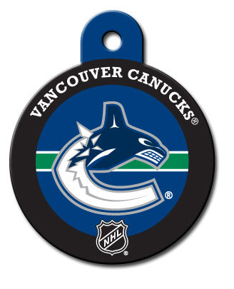 Round NHL Vancouver Canucks Pet Tag