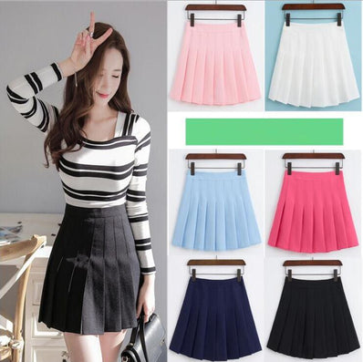 summer new AA high waist Slim short skirt college students wind code skirt-Dollar Bargains Online Shopping Australia