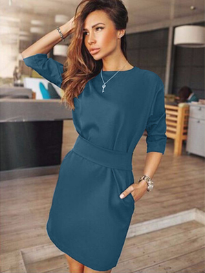 Women's Casual Half Sleeve Autumn Dress Bodycon Dress Ukraine Plus Size Clothes Evening Party Mini Dresses-Dollar Bargains Online Shopping Australia