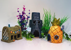 Spongebob Aquarium Decoration Fish Tank Ornaments Set of 3 Pineapple House & Squidward Easter Island & Krusty Krab-Dollar Bargains Online Shopping Australia