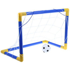 Mini Children Football Soccer Goal Post Net Set Pump Easy to Install for Indoor Outdoor Kids Toy-Dollar Bargains Online Shopping Australia