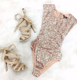Summer Playsuit Triangle Rompers Sequined Sleeveless Sexy Rompers Fashion Female Bodysuit Jumpsuits-Dollar Bargains Online Shopping Australia