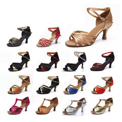 New Brand Satin/PU Girls Ladies Women's Tango Salsa Dance Ballroom Latin Dance Shoes 7cm Heels 22 Colors and Retail-Dollar Bargains Online Shopping Australia