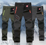 Man Winter Waterproof Trekking Fleece Outdoor Hiking Pants Men Camping Climbing skiing Softshell Trousers Fishing 5XL P16-Dollar Bargains Online Shopping Australia