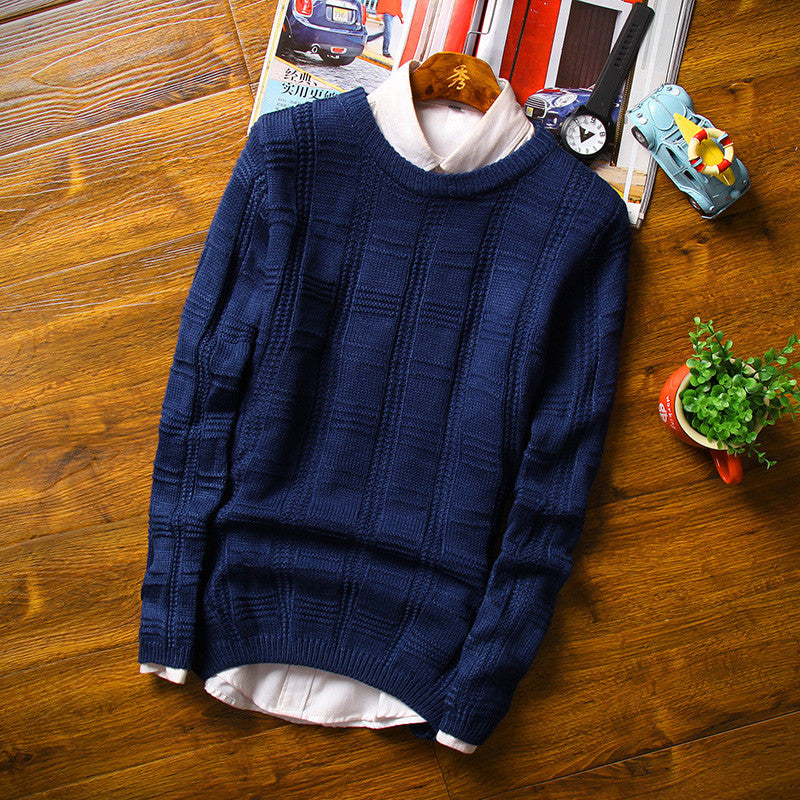 Black / Mnew solid Casual Men Sweater male Brands Sweater Winter Men's O-Neck Cotton Sweater Jumpers Pullover Sweater Men
