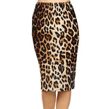 Spring Summer Vintage Fashion Printed Pencil Skirt Midi Women Knee-Length Elastic High Waist Ladies Pattern Skirts D40-Dollar Bargains Online Shopping Australia