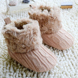 Winter Warm First Walkers Baby Ankle Snow Boots Infant Crochet Knit Fleece Baby Shoes For Boys Girls-Dollar Bargains Online Shopping Australia