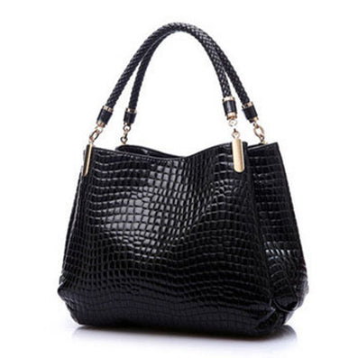 Alligator Leather Women Handbag Fashion Famous Brands Shoulder Bag Black Bag Ladies-Dollar Bargains Online Shopping Australia