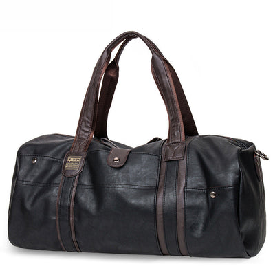 Oil Wax Leather Handbags For Men Large-Capacity Portable Shoulder Bags Men's Casual Travel Bags Package-Dollar Bargains Online Shopping Australia