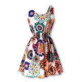New Summer Women Tank Chiffon Beach Dress Sleeveless Sundress Floral Mini Dresses M L XL XXL 21 Colors-Dollar Bargains Online Shopping Australia