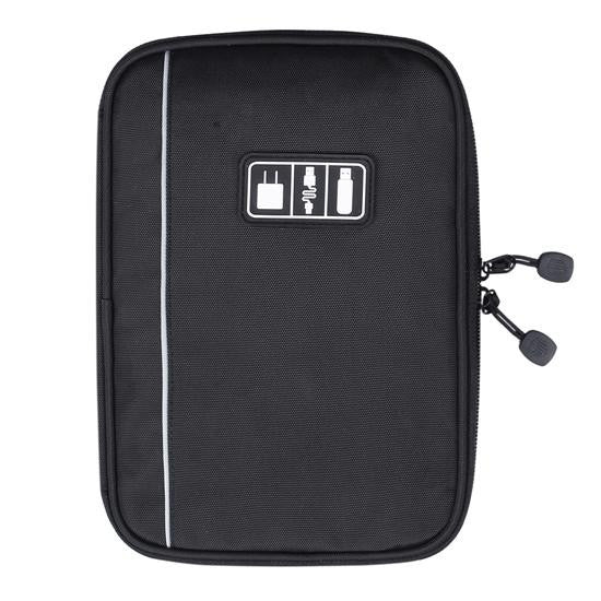 BlackNew Electronic Accessories Travel Bag Nylon Mens Travel Organizer For Date Line SD Card USB Cable Digital Device Bag
