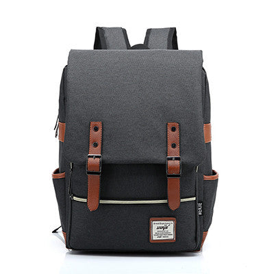 Black BackpackVintage Women Canvas Backpacks For Teenage Girls School Bags Large High Quality Mochilas Escolares New Fashion Men Backpack