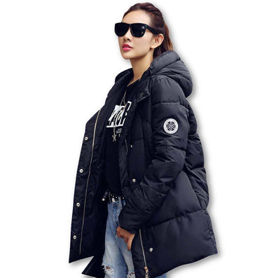New Long Parkas Female Women Winter Coat Thickening Cotton Winter Jacket Womens Outwear Parkas for Women Winter Outwear-Dollar Bargains Online Shopping Australia