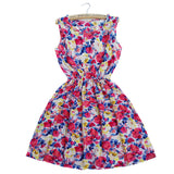 Sping Summer Autumn New Women Dress Vestidos Casual Bohemian Floral Sleeveless Vest Printed Beach Dress-Dollar Bargains Online Shopping Australia