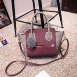Spring Smiley PU Leather Tote Bag Women Trapeze Fashion Designer Handbags High Quality Ladies Bags Vintage Crossbody Bags-Dollar Bargains Online Shopping Australia