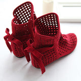 New Fashion Big size 43 Summer Boots Women Flock Flat shoes Low Hidden Wedges Solid Cut-outs Ankle Boot Ladies Casual Shoes-Dollar Bargains Online Shopping Australia