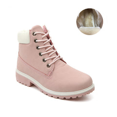 Women Boots PU Leather Platform Women Shoes Suede Rubber Women Ankle Boots Timber Boots Martin brand Shoes #C1-Dollar Bargains Online Shopping Australia