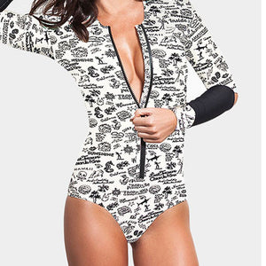 swimsuit women one piece swimsuit long sleeve Plus Size swimwear women sexy Swimwear one piece bathing suits swimming suit-Dollar Bargains Online Shopping Australia