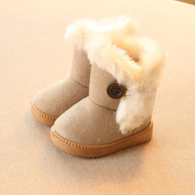 Winter Children Boots Thick Warm Shoes Cotton-Padded Suede Buckle Boys Girls Boots Boys Snow Boots Kids Shoes EU 21-35-Dollar Bargains Online Shopping Australia