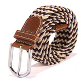 31 Colors Men Women's Canvas Plain Webbing Metal Buckle Woven Stretch Waist Belt-Dollar Bargains Online Shopping Australia