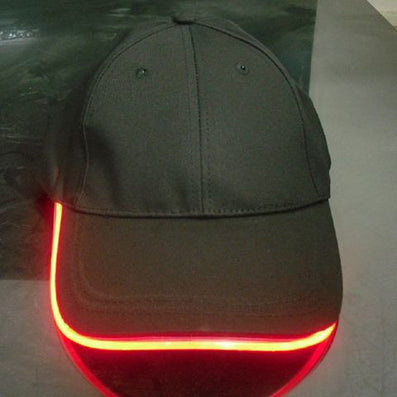 Fashion LED Lighted Glow Club Party Black Fabric Travel Hat Baseball Cap # 74233-Dollar Bargains Online Shopping Australia