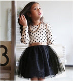 New Autumn Winter Kids Toddlers Girls Dresses Polka Dot Bow-Knot Long Sleeve Dress Girl Clothing Party Kids Clothes 3-8Year-Dollar Bargains Online Shopping Australia