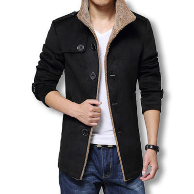 Men Long Wool Coat Winter Men Jackets And Coats Slim Fit Men Windbreaker High Quality Trench Coat Plus Size-Dollar Bargains Online Shopping Australia