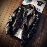 Fashion Men's PU Leather Jacket moto Solid Warm Windbreaker Male Jacket big size 5XL-Dollar Bargains Online Shopping Australia