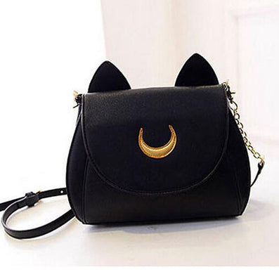 New Summer Limited Sailor Moon Chain Shoulder Bag Ladies Luna Cat PU Leather Handbag Women Messenger Crossbody Small Bag-Dollar Bargains Online Shopping Australia